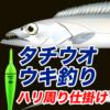 【タチウオのウキ釣り】ハリ周りの仕掛けの特徴&使い分けを解説