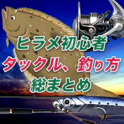 【初心者でもよくわかるヒラメ攻略】タックル、釣り方など総まとめ