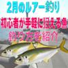 【2月の釣り】初心者が手軽に狙える魚&釣り方を紹介