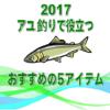 【2017】鮎の友釣りに役立つおすすめの5アイテムを紹介
