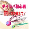 タイラバ初心者、タイラバの釣り方を教えて!